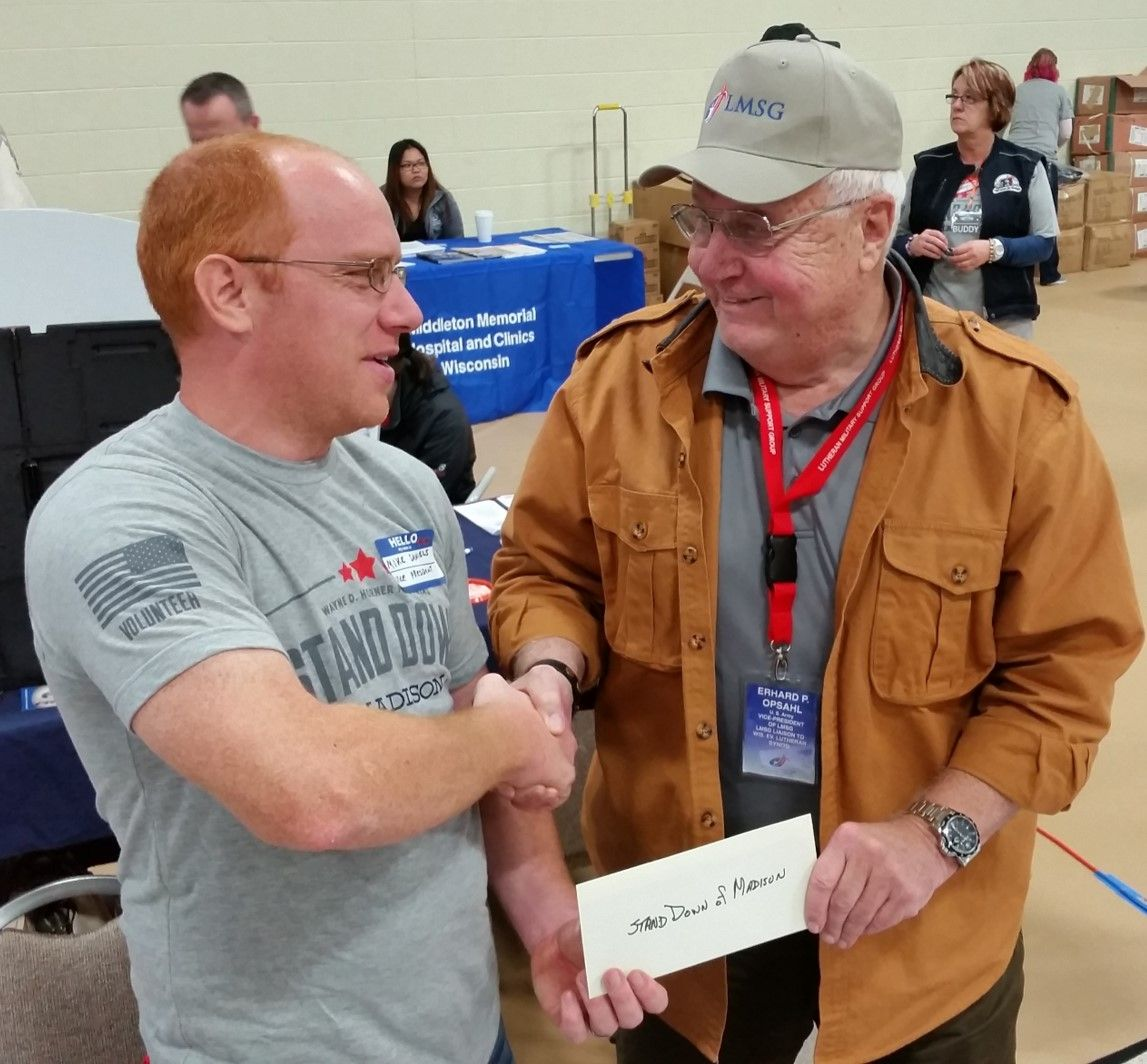 Erhard Opsahl Presenting LMSG Check to Mike (002)